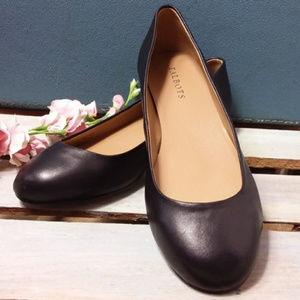 Talbots Shoes Ballet Toe Low Block Heel WIDE Width